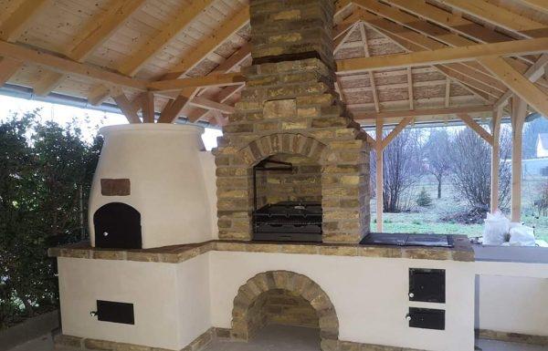 épített kerti grill